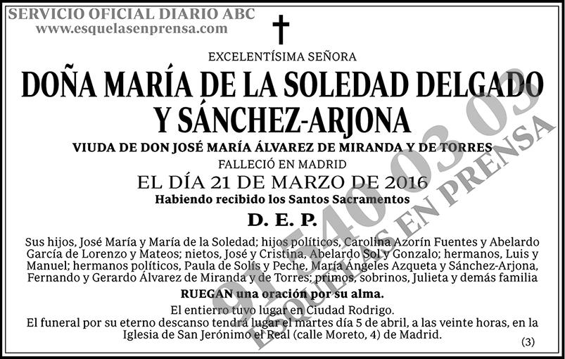 María de la Soledad Delgado y Sánchez-Arjona